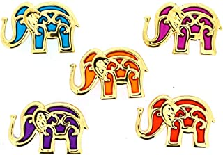 Jesse James Buttons, Dress It Up, BOLLYWOOD ELEPHANTS pkg Craft Sewing Buttons