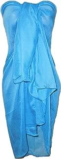 Mesdames turquoise plage sarong avec imprimé léopard