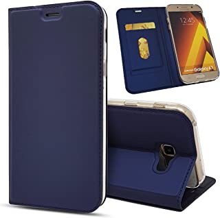 Galaxy A7 2017 Case,Jaorty Classic PU Leather Wallet Case Slim Folio Book Cover with Credit Card Slots,Cash Pocket,Stand H...