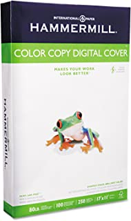 Hammermill 120037 Copier Digital Cover Stock, 80 lbs, 17 x 11, Photo White, 250 Sheets