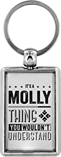 Cute Keychains - It's a Molly Thing You Wouldn't Understand - Mens Gifts Ideas For Valentine's, Birthday Gifts, Anniversary Gifts For Him, Personalised Keychains Novelty Gifts Ideas