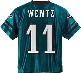 Carson Wentz Philadelphia Eagles #11 Green Kids Home Player Jersey