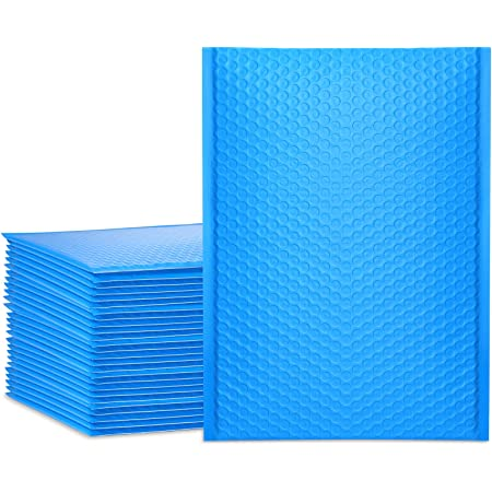 """UCGOU 9.5x14.5"""" Blue Bubble Mailers Padded Envelopes Self Seal Mailing Shipping Bags 25pcs"""