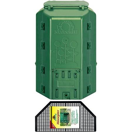 2 rotierender Kompostierbecher MaxWorks 80699 Kompostierbecher f/ür den Garten 2 Kammern