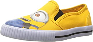 Despicable Me Kids' Left-Right Canvas Step-in-Shoes, Yellow, Toddler Boy (US Size 5-12)