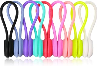 Blulu 27 Pieces Magnetic Cable Clips Cable Straps Reusable Twist Ties with Magnet for Bundling and Organizing Cables Earph...