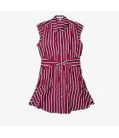 Sleeveless Shirtdress w/ Twist Waist Detail