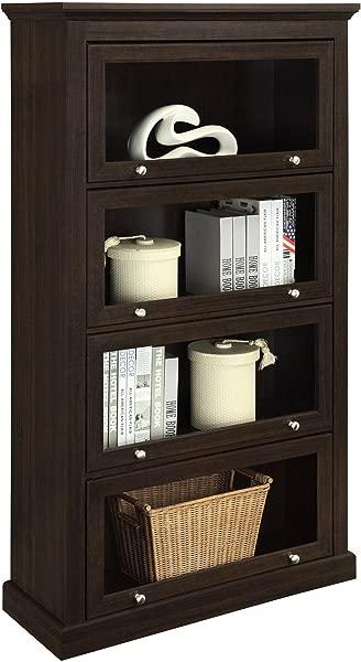 Ameriwood Home Alton Alley 4 Shelf Barrister Bookcase Espresso