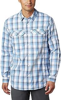 Columbia Men's Silver Ridge Lite Plaid Long Sleeve Shirt, UV Sun Protection, Moisture Wicking Fabric