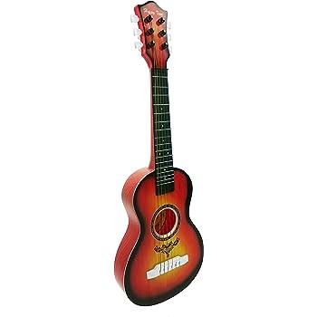 POXL Niños Guitarra Juguete, 6 Cuerdas Madera Simulación Guitarra ...