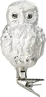 Inge Glas Clip-On Vintage Owl 1-084-15 German Blown Glass Christmas Ornament