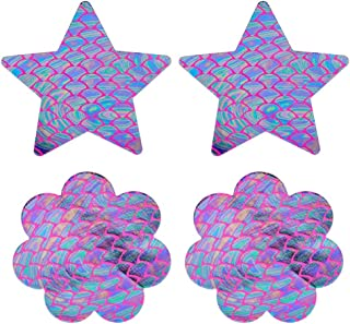 Nippleless Covers, Lady Up Reusable & Disposable Breast Pasties Petals Set for Women