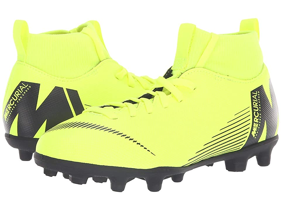 Nike Kids Superfly 6 Club MG Soccer (Little Kid/Big Kid) (Volt/Black) Kids Shoes