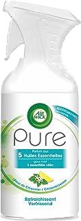 Air Wick Desodorisant Maison Aérosol Pure Huiles Essentielles Rafraichissant 250 ml