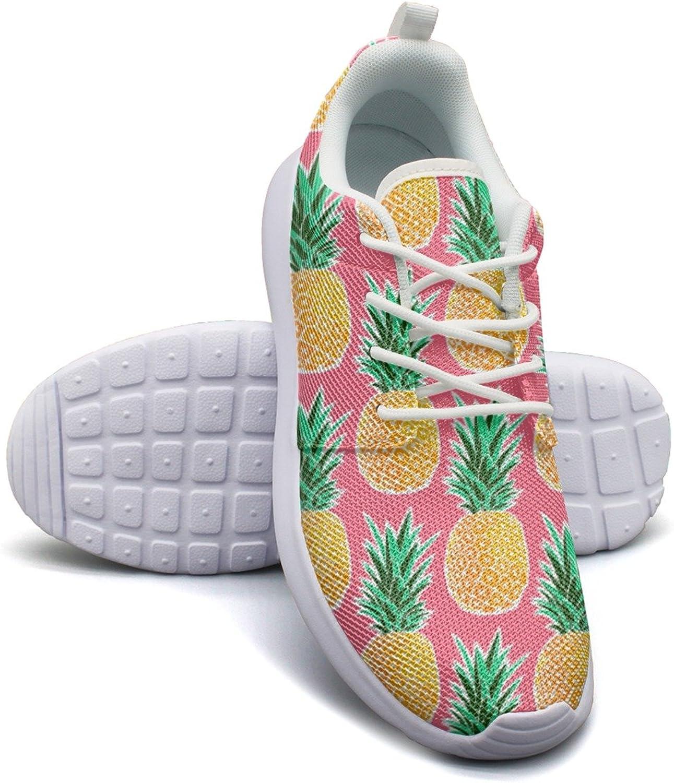 ERSER Tropical Pineapple Pink Geometric Running Basketball shoes Women
