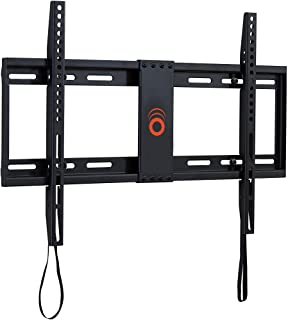 "ECHOGEAR Low Profile Fixed TV Wall Mount for TVs Up to 80"" - Holds Your TV Only 1.25"" from The Wall - Pull String Locking ..."