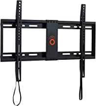 "ECHOGEAR Low Profile Fixed TV Wall Mount for TVs Up to 80"" - Holds Your TV Only 1.25"" from The Wall - Pull String Locking System for Easy Cable Access - Big Hardware Assortment for Simple Install"