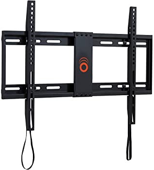 """ECHOGEAR Low Profile Fixed TV Wall Mount for TVs Up to 80"""" - Holds Your TV Only 1.25"""" from The Wall - Pull String Loc..."""