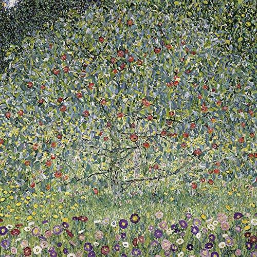 Artland Alte Meister Wandbild Gustav Klimt Apfelbaum Leinwand Bilder 70 x 70 cm Kunstdruck Gemälde Jugendstil R1ZO