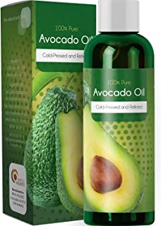Pure Avocado Oil Natural Moisturizer for Face and Body Anti Aging Skin Care and Hair Care Treatment for Dry Skin and Dull Hair with Nourishing Fatty Acids for Soft Supple Skin and Thick Glossy Hair