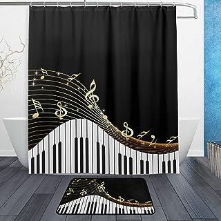 Naanle Modern Art Music Note with Piano Keyboard Waterproof