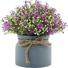 Heave Flores artificiais, plantas de bonsai, mini planta em vaso para casamento, festa, escritório, decoração de mesa, arr...