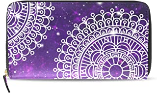 Mandala The Eye Of God BV Women Wallet RFID Zip Long Wallets Phone Travel Card Holder Purse Clutch Multi Card Case