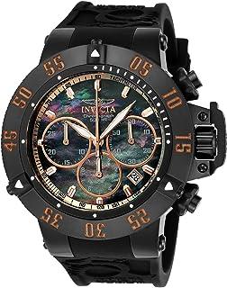 Men's Subaqua Quartz Watch with Silicone Strap, Black, 28 (Model: 22921)
