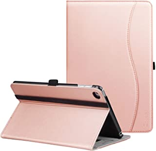 Ztotop iPad Mini 4 Case, Premium Leather Folio Stand Protective Case Smart Cover with Multi-Angle Viewing, Paperwork Card Pocket, Functional Elastic Strap for iPad Mini 4 - Rose Gold