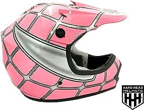 SmartDealsNow DOT Youth & Kids Helmet for Dirtbike ATV Motocross MX Offroad Motorcyle Street bike Flat Matte Black Helmet (Small, Pink Net)