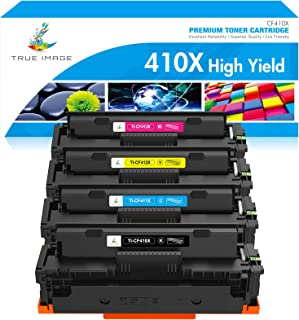 True Image Compatible 410X Toner Cartridge Replacement for HP CF410X CF410A M477fnw Toner HP Color Laserjet Pro MFP M477fn...