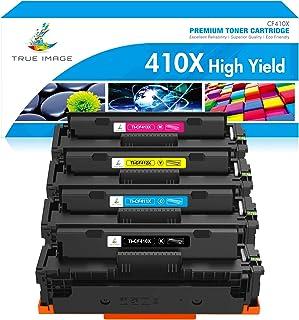 TRUE IMAGE Compatible Toner Cartridge Replacement for HP 410X CF410X CF411X CF412X CF413X to use with Color Laserjet Pro M...