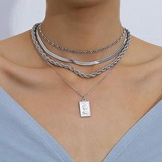 Kercisbeauty Snake Bone Chain Choker Dragon Charm Pendant Necklace for Women and Girls Rope Chain Multi Layered Punk Jewel...