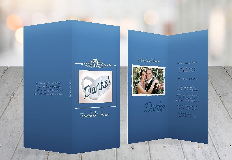 Kartenparadies Danksagung Danksagung Danksagung für Hochzeitsgeschenke Hochzeit Danke Din Ringetausch, hochwertige Danksagungskarte Hochzeitsglückwünsche inklusive Umschläge   10 Karten - (Format  105x215 mm) Farbe  KräftigHellMarineblau B01NAVS24O | D d997bd