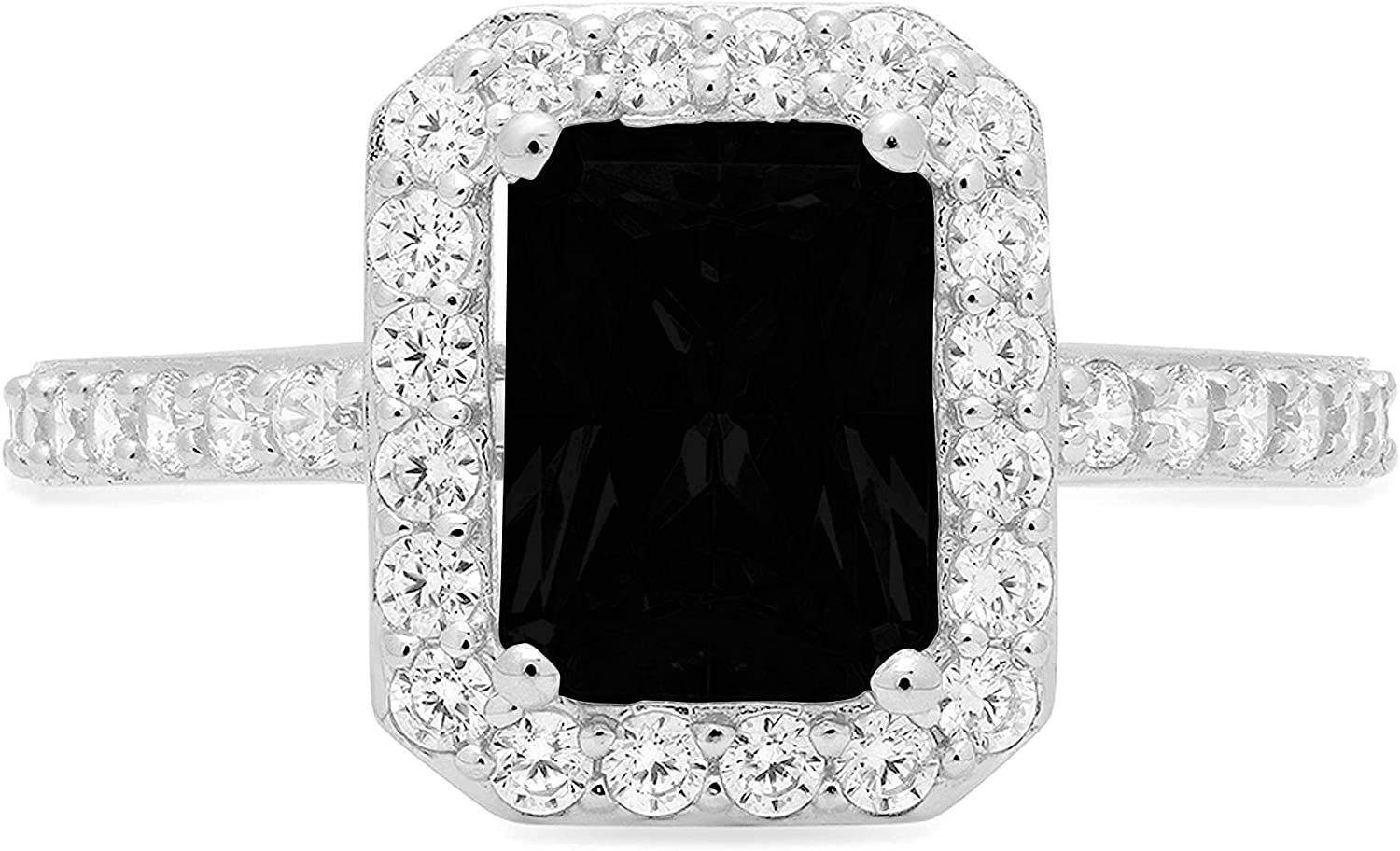 2.01ct Brilliant Emerald Cut Boston Mall Solitaire Accent Halo Flawless with Limited Special Price
