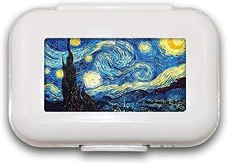 Starry Night Pill Box Pill Case Pill Organizer Decoratieve Boxen Pill Box voor Pocket of Purse - 8 Compartiment Pill Box/P...