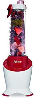 Oster MyBlend Pro Series Personal Blender with Condensation Free Bottle, Travel Clip and 4 Reusable Straws, Red, BLSTPB2-WRD