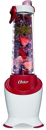 Oster MyBlend Pro Series Licuadora Personal con botella libre de condensación, Clip de viaje y 4 popotes resusables, Rojo, BLSTPB2-WRD