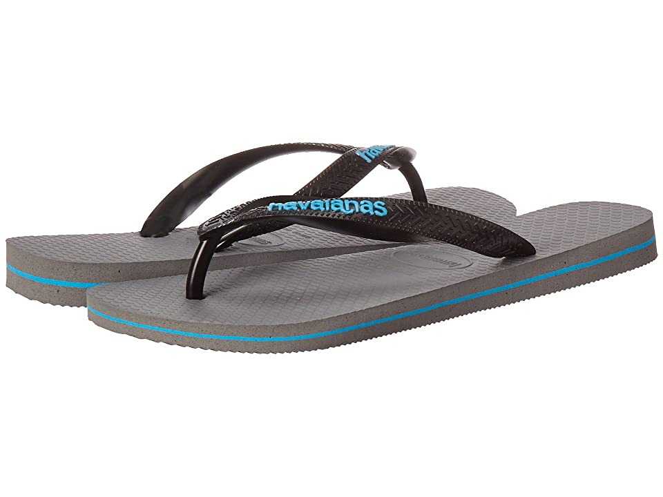 Havaianas Top Logo Filete Sandal (Steel Grey/Blue) Men