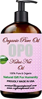 Unrefined Kukui Nut Oil 8 oz - 100% Kukui Carrier Oil for Essential Oil - Pure, All Natural, Pharmaceutical Grade Kukui Seed Oil for Hair, Skin, Scalp, Body Care Moisturizer