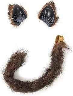 elope Cat or Fox Ears Elastic Headband & Tail Set for Women