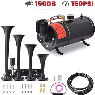 $109 » Sponsored Ad - Minocool Trumpe Train Horn Kit 12V, Train Air Horn Kit with 1GAL Air Tank 150PSI Air Compressor 4 Trumpets ...