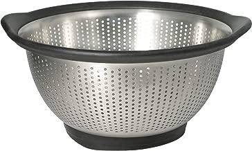 KitchenAid Gourmet 3-Quart Stainless Steel Colander, Black