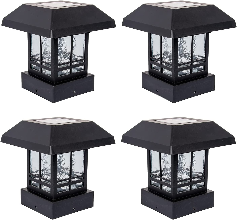 GreenLighting 4 Pack Trophy 15 Now on sale Lumen half Powered Solar Cap Post LED