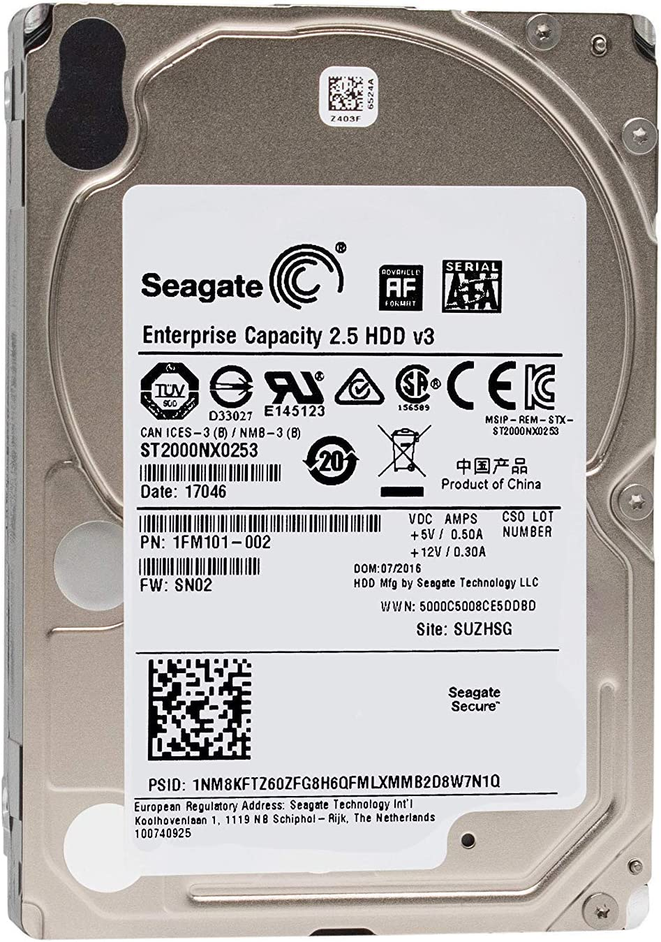 Seagate ST2000NX0273 2 TB Hard Drive - 2.5' Internal - SAS (12Gb/s SAS)