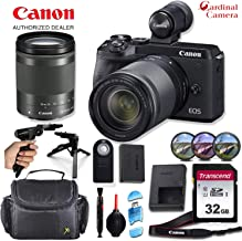 Canon EOS M6 Mark II Mirrorless Digital Camera with 18-150mm Lens and EVF-DC2 Viewfinder (Black) with Padded Equipment Case + Elemental Accessory Bundle