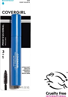 COVERGIRL, Professional 3-in-1 Waterproof Mascara, Very Black 225, (Packaging May Vary) Long Lasting Waterproof Mascara, 1 Count