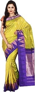 Indian Silks Temple Design Women's Kanchipuram Handloom Pure Silk Saree, With Blouse