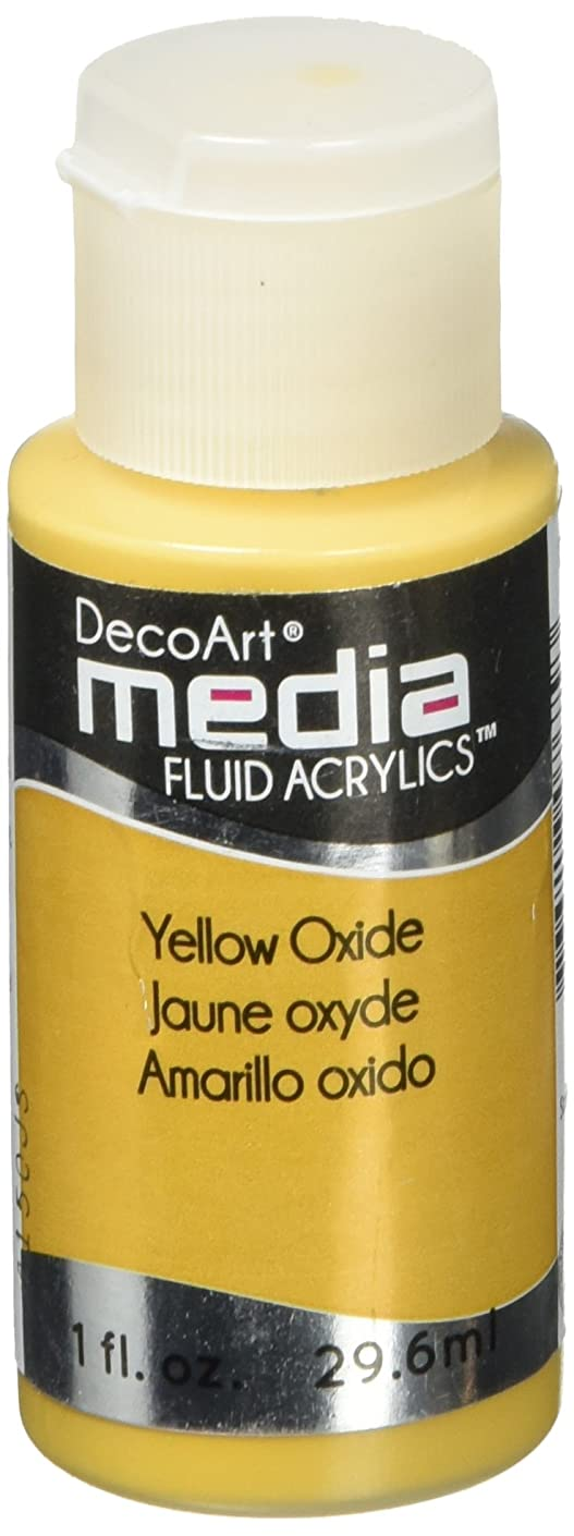 DecoArt Media Fluid Acrylic Paint, 1-Ounce, Yellow Oxide