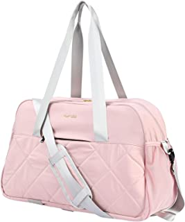 MIER Gym Duffel Travel Bag for Women, Girls Sports Duffle Bags Tote with Multiple Pockets Bottom Elastic Straps for Yoga F...